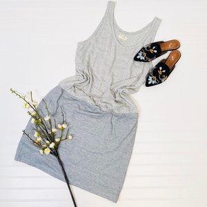 Lou & Grey Striped Drop Waist Tank Dress
